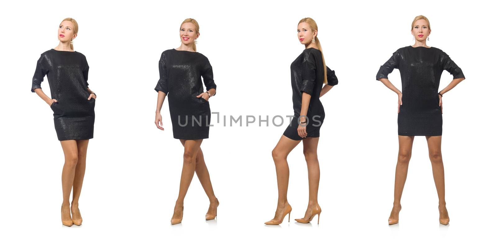 Woman in fashion concept isolated on white