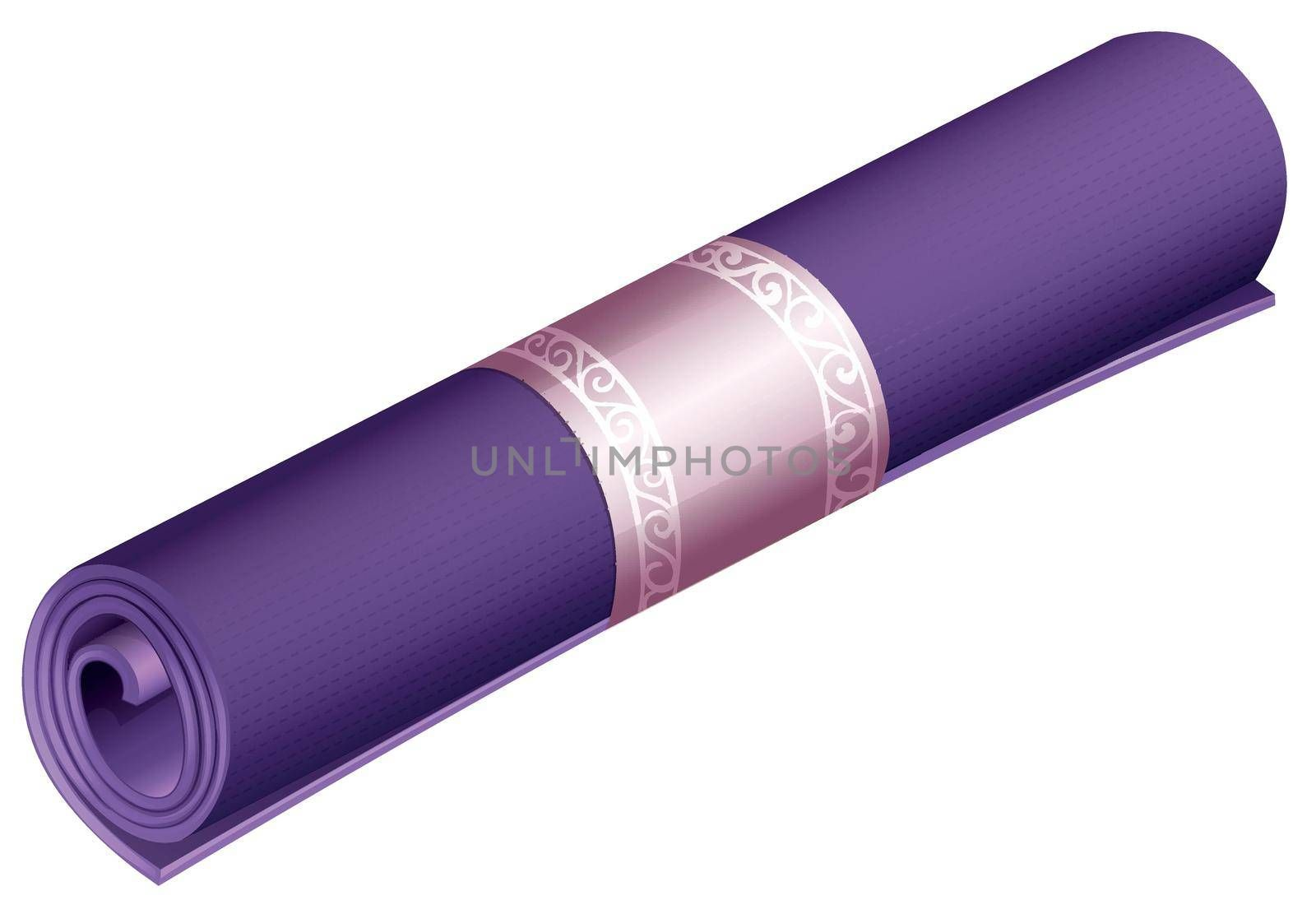 Simple purple yoga or camping mat illustration