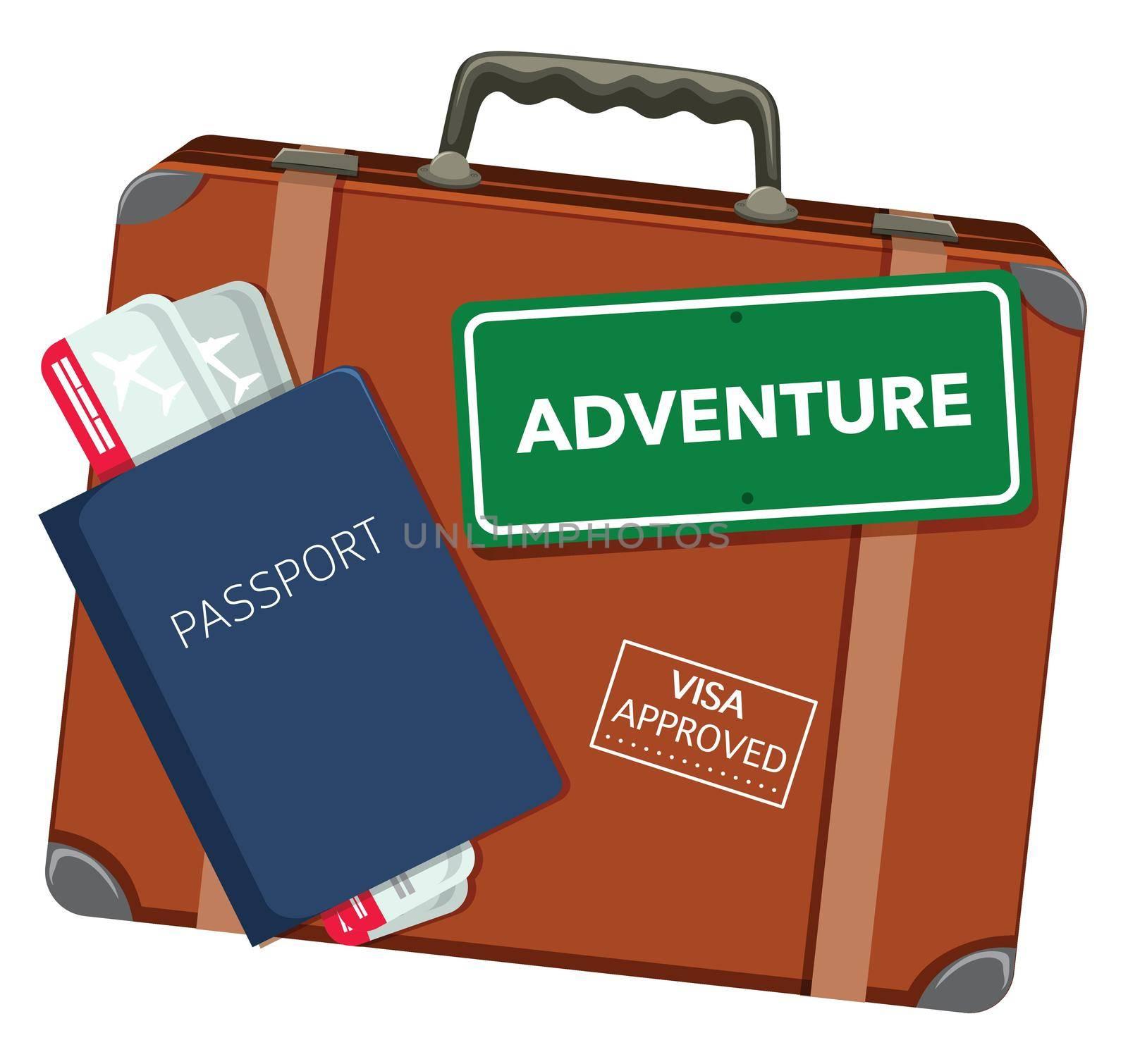 Travel object on white background illustration