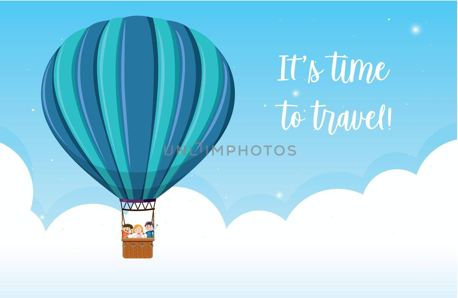 It's time to travel illustration