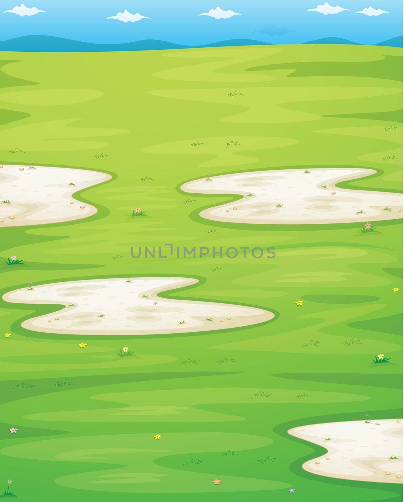 illustration of a gras texture