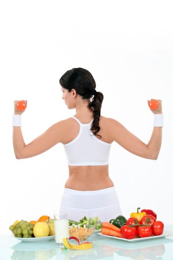Woman living a healthy lifestyle