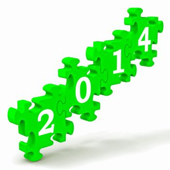 2014 Puzzle Shows New Year's Festivities And Celebrations