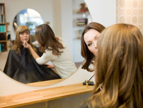 Young woman in the beauty salon