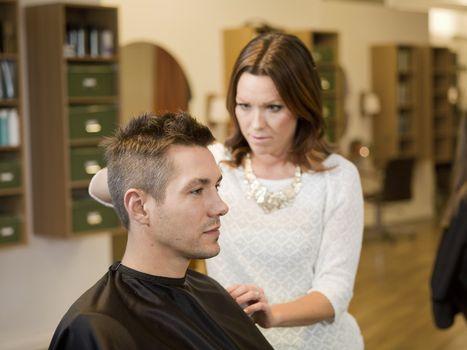 Adult man in a Beauty salon
