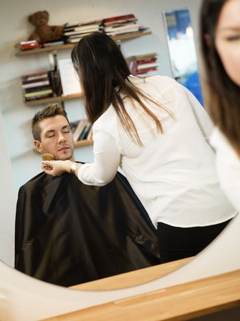 Young man at the Beauty salon