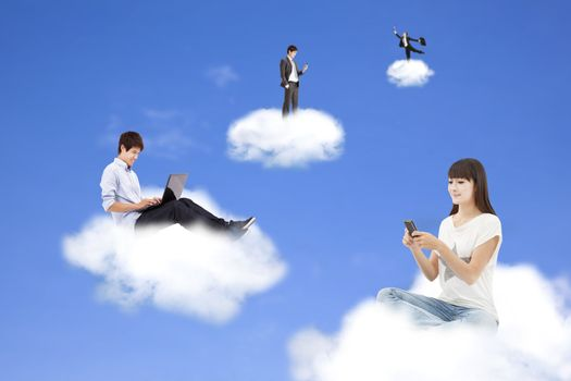 cloud computing concept and technology lifestyle