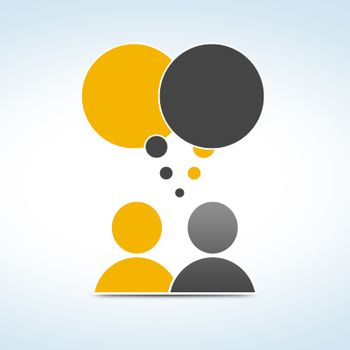 social media concept - conversation people with speech bubbles