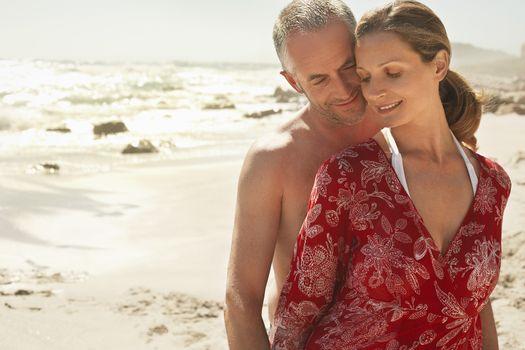 Romantic Couple At Beach