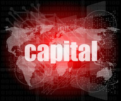 touch screen interface with capital word