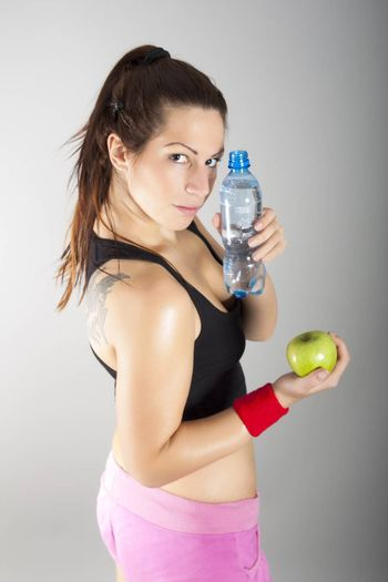 portrait of healthy lifestyle girl