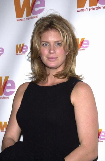 Rachel Hunter at the unveiling of the new name for Romance Classics Television in Los Angeles, 11-29-00