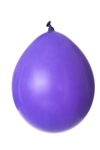 Violet balloon. Isolated on white.