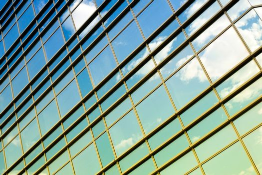 Abstract windows with the sky reflection