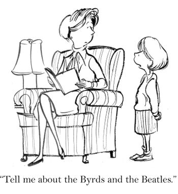 """""""Tell me about the Byrds and the Beatles."""""""
