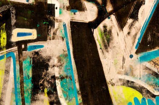 Abstract old wall with the graffiti