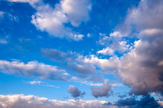Abstract clouds over the blue sky