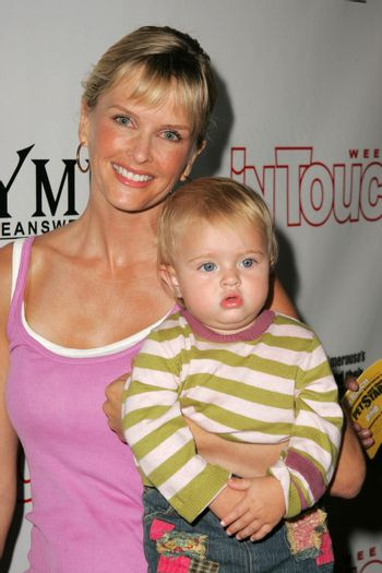 Kylie Bax and daughter Lito at the In Touch Presents Pets And Their Stars Party, Cabana Club, Hollywood, CA 09-21-05