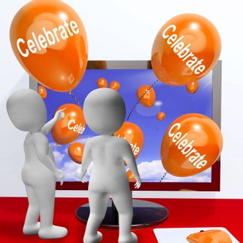 Celebrate Balloons Meaning Parties and Celebrations Online
