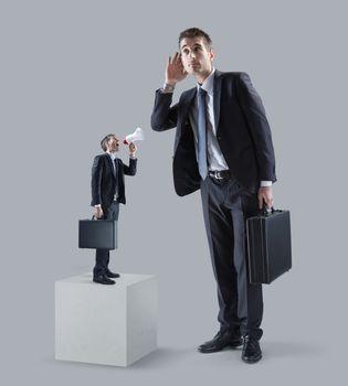 Communication problems between businessmen.