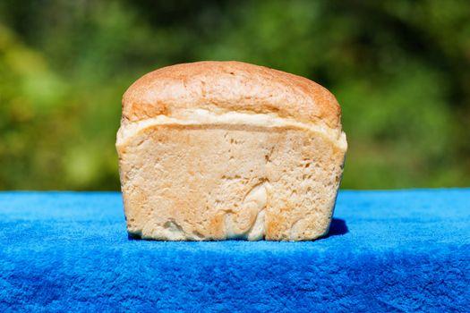 a fresh good bread outdoors