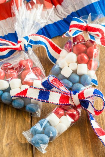 Colorful treats for the American Independence day at the 4th of July