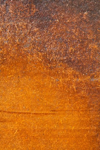 Close up shot of an old rusty piece of metal