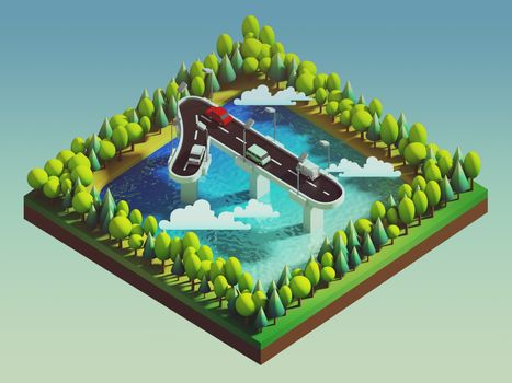 Isometric island transportation, road is number one
