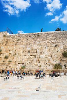 People pray at the Wailing Wall in Jerusalem. 20 september 2014 Jerusalem.