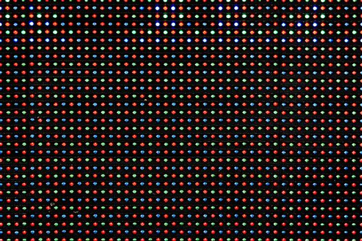 LED Display as Technology Background - Red, Green and Blue LED Lamp Diodes