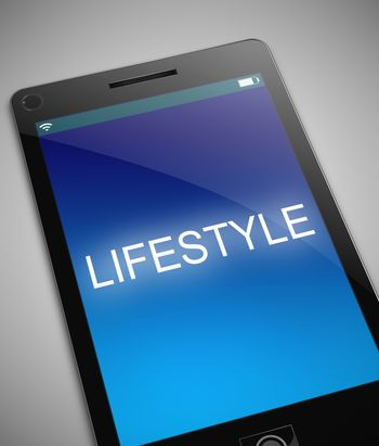 Illustration depicting a phone with a lifestyle concept.