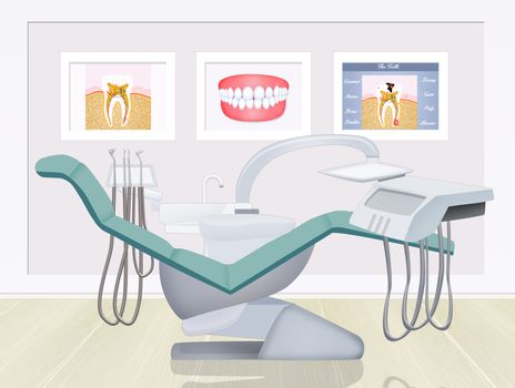 illustration of dentist studio