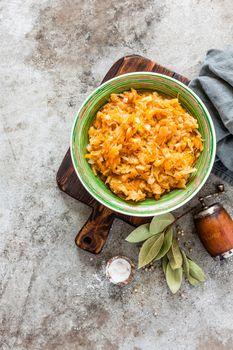 Braised or stewed cabbage, sauerkraut