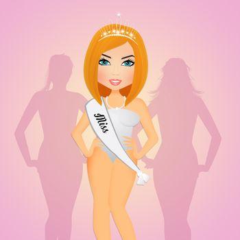 illustration of beauty contest