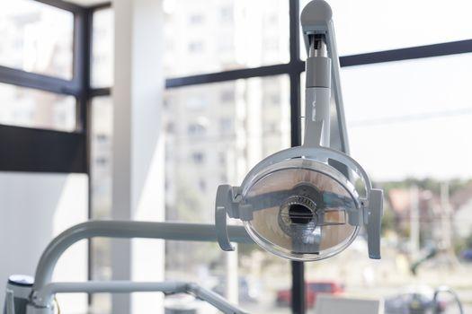 Dental chair main light in a clinic