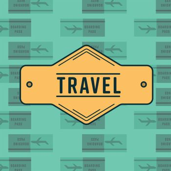 Conceptual vector symbol reading travel