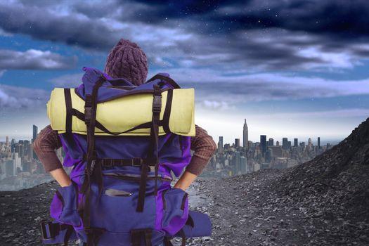 Digital composite of travel torso4
