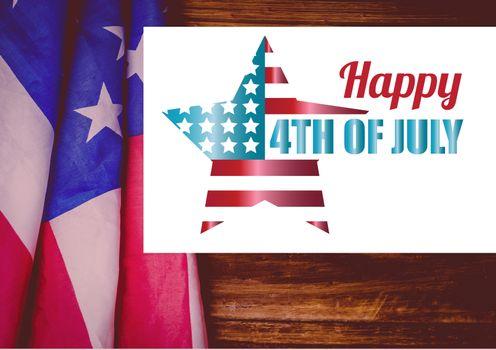 Digital composite of 4th of July design