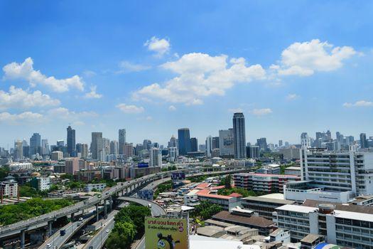 Bangkok, Thailand - June 10, 2015 : Daytime of Bangkok city. Bangkok is the capital and the most populous city of Thailand.