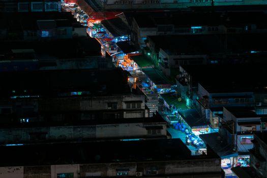 Bangkok, Thailand - October 30, 2015 : Nighttime of Bangkok city. Bangkok is the capital and the most populous city of Thailand.