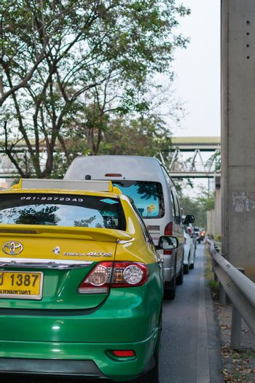 Bangkok, Thailand - January 6, 2016 : Transportation in Bangkok city. Bangkok is the capital and the most populous city of Thailand.