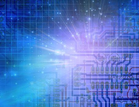 Circuit Technology. Modern digital art