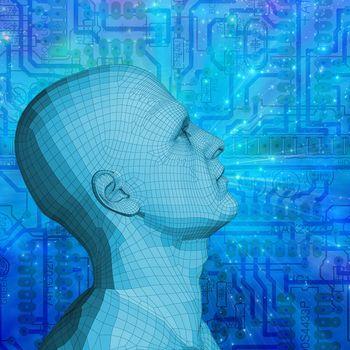 Sci-fi modern art. Mind Technology