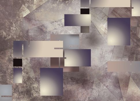 Geometric Abstract in Soft Colors