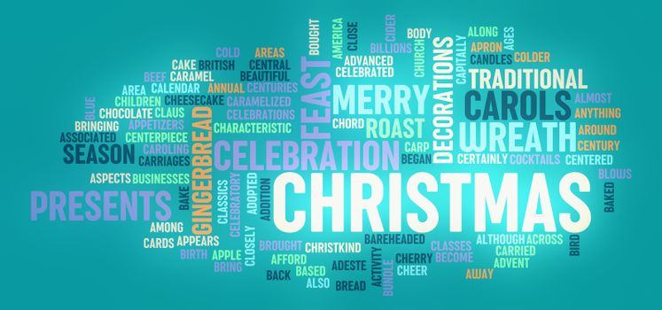 Christmas Greeting Card as a Background Concept Art