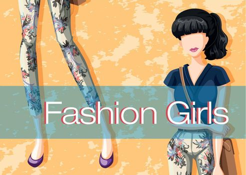 Poster of fashion for woman with picture and text