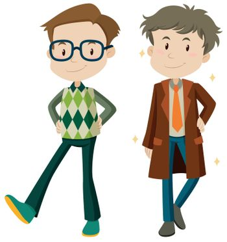Fashion design for man illustration