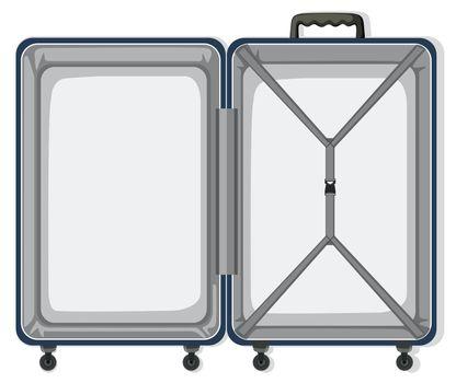 An empty travel luggage illustration