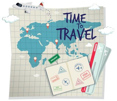 A time to travel template illustration