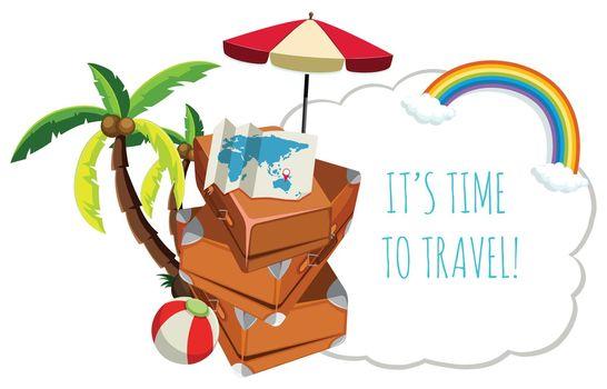 Travel icon on white background illustration